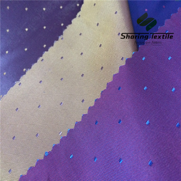 Focus On Tr Lining Perfect Quality 15 Years 68D(75D)*120D(75D) Pv Dobby Jacquard Pattern Two Tones Suit Jacket Lining Fabric