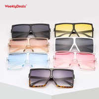 Trend Oversized Square Big Frame Sunglasses Super Cheap Multi Colors Glasses