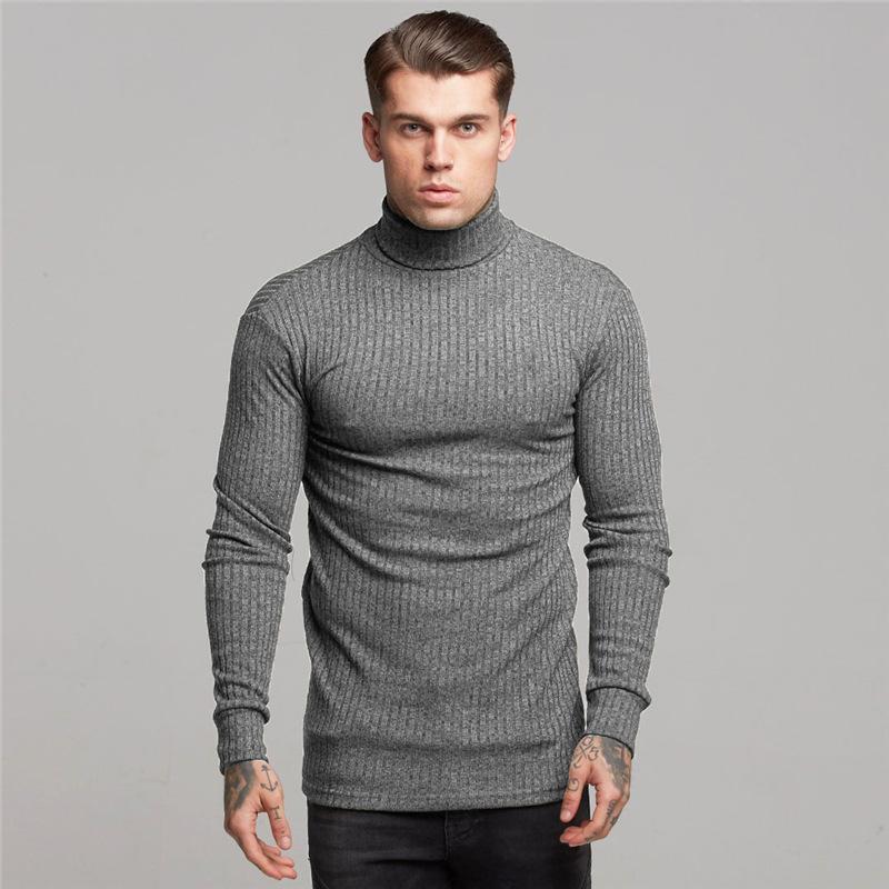 Plus Size Men High Neck Slimming Long Sleeve Sports T Shirt Compression Kinting Shirt 3