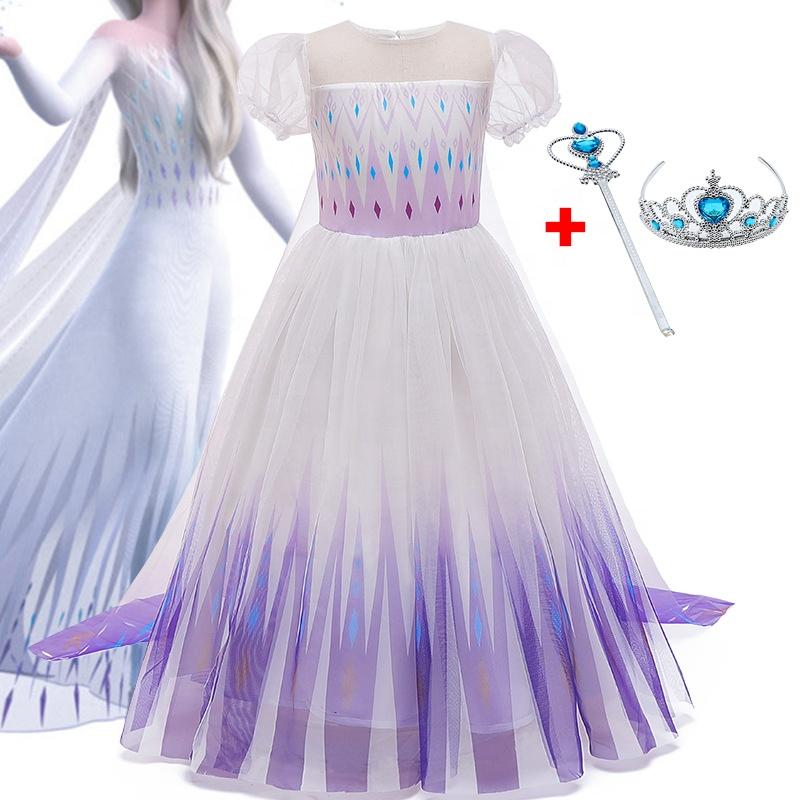 Nuovo Partito di Cosplay Dress Up Congelati 2 Elsa Anna Principessa Costume di Halloween Della Regina Abiti Per Bambini Costumi