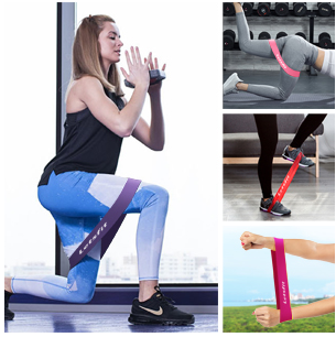 Latex Rubber Legs Butt Glutes Yoga Crossfit Fitness Physical Therapy Mini Home Equipment Women Exercise Resistance Loop Bands