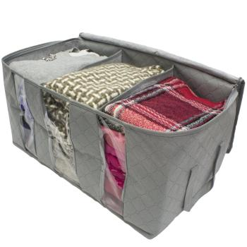 Home Organizes Foldable Clothing Organizer Bag Blanket Closet Storage
