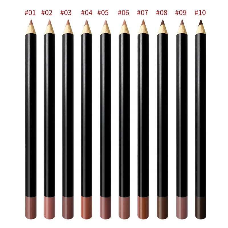 Waterproof Private Label Lip Liner Pencil Brown Lipliner No Logo