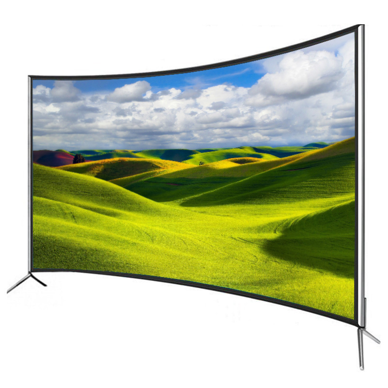Hot sale curved smart <strong>tv</strong> 70 Inch led android 4K ultra-thin explosion-proof screen televisions