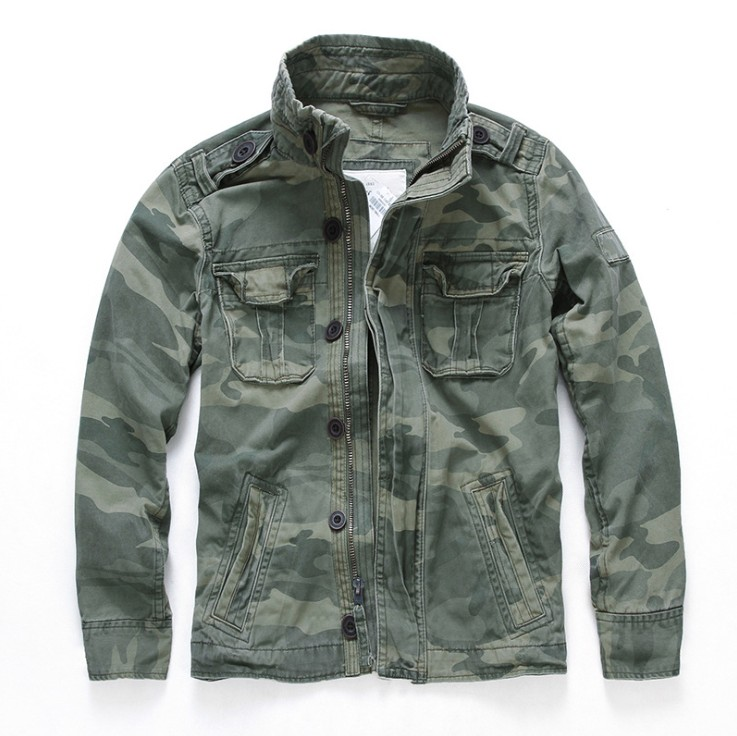 Men Vintage Casual Cargo <strong>Jackets</strong> <strong>Military</strong> <strong>Style</strong> Denim <strong>Jacket</strong>