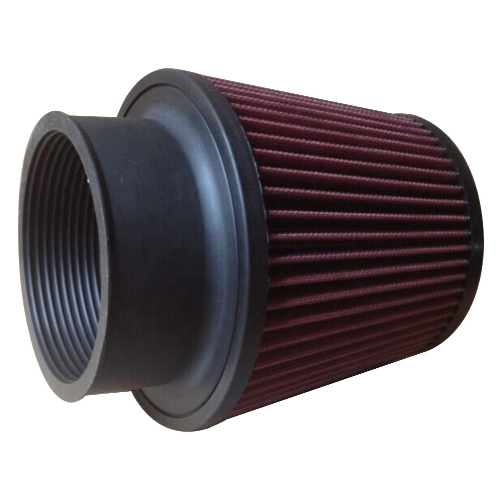 Filtro universal del alto rendimiento del filtro de aire del coche kit de inducci/ón del coche de deportes Cono Aire acabado en cromo