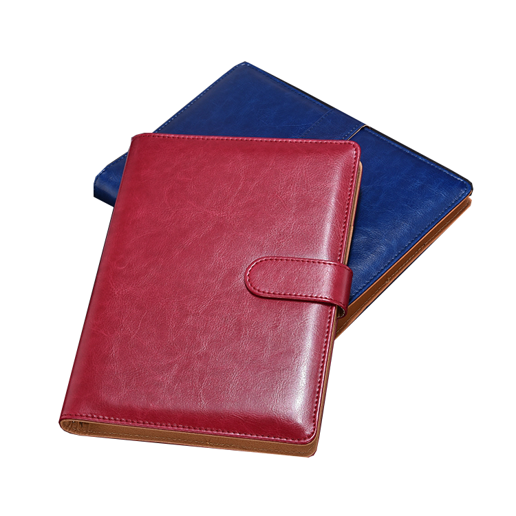 Embossed debossed Custom Logo A4 A5 PU Leather softcover and hardcover Notebook with pen