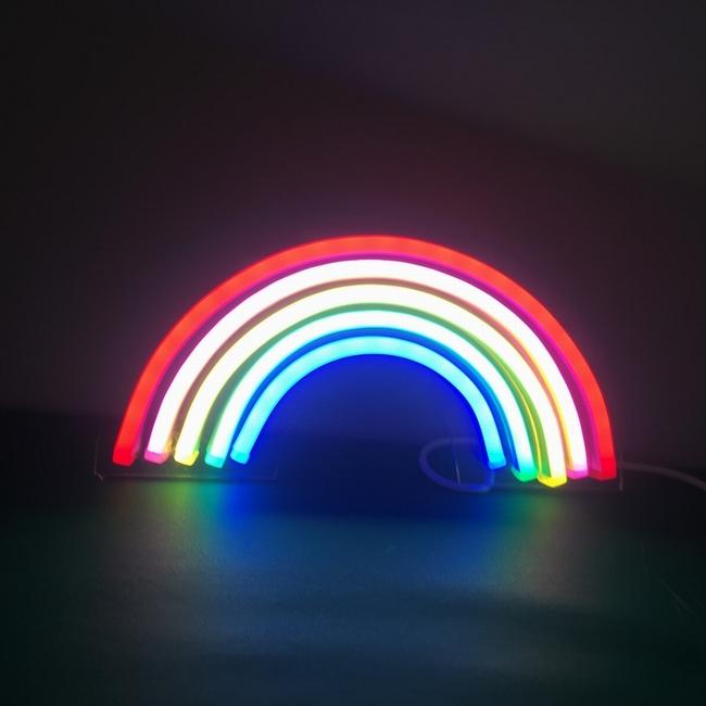 wholesale high quality custom 5v neon rainbow sign  led light