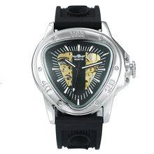 Победитель официальные спортивные автоматические механические мужские часы Racing Triangle Skeleton Наручные часы лучший бренд класса люкс Золотой п...(Китай)