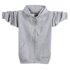 Wholesale High Quality Fleece Or Terry Blank Long Sleeve Printed Custom Design Cashmere Hoodie with Zipper Men
