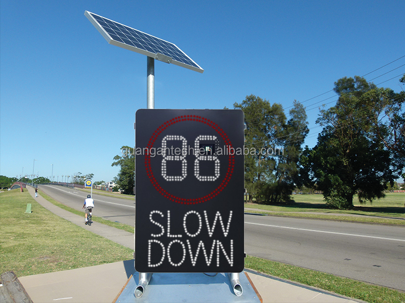 SOLAR LED RADAR VEHICLE ACTIVATED VARIABLE SPEED SIGN