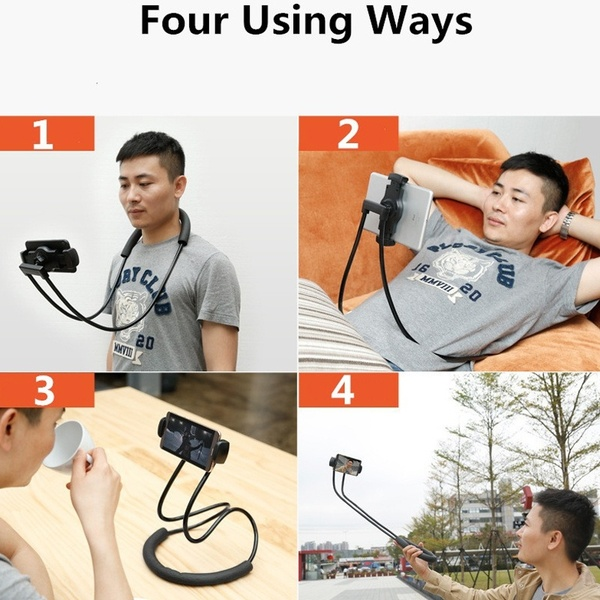Creative 360 Rotation Neck Hanging Flexible Cell Mobile Mount Stand Lazy Bracket Neck Phone Holder