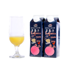 Factory wholesale natural apple flavor no additives pure juice soft drinks 475ml boxed healthy juice