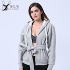 Fashion Hot Sell Casual Simplicity Solid Color Grey Women Loose Coat