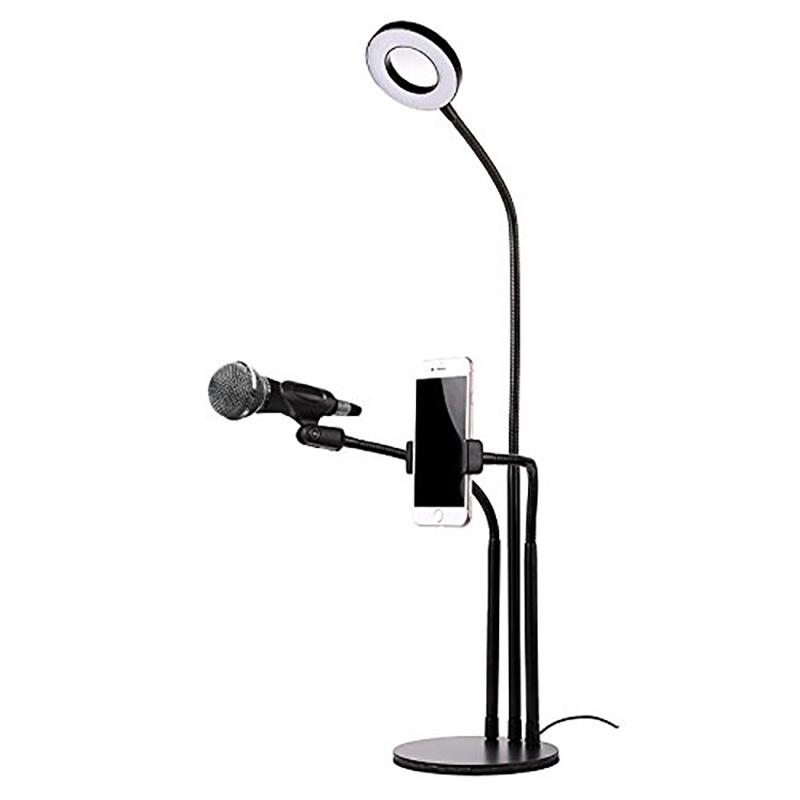 2020 Estúdio foto Selfie LEVOU Anel de Luz com o Telefone Móvel Celular Titular tripé para Câmera Transmissão Ao Vivo Do Youtube Maquiagem lâmpada
