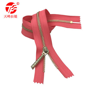 5# Corn Tooth Metal Zipper Closed Tail Copper Tooth Zipper Guangdong Manufacturer Wholesale Smooth High-grade Zipper