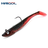 Haigol Quality Supply on Soft Lure Shad with Jig Head 20g 30g 60g 90g Customized Fishing Lure Bulk Soft Plastic Baits Soft Bait