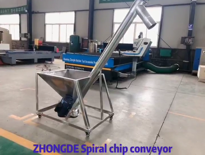 Food squeezed peanut rapeseed Spiral Flexible Hopper Screw Conveyor for Automatic chip conveyor