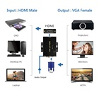 vga to hdmi video converter with audio support 1080P with power adapter