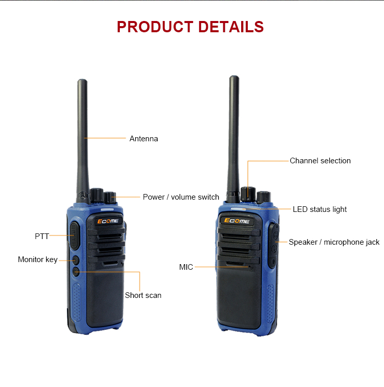 7w output power noise cancelling police handheld two way radio portable walkie talkie