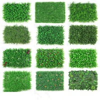 artificial wall plant boxwood hedge moss grass indoor plant vertical panels leaves green wall system for decoration