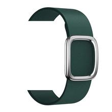 Кожаный браслет-петля, современный ремешок с пряжкой для Apple Watch, 5, 4, 40 мм, 44 мм, ремешок для iWatch 3/2/1, 38 мм/42 мм(Китай)