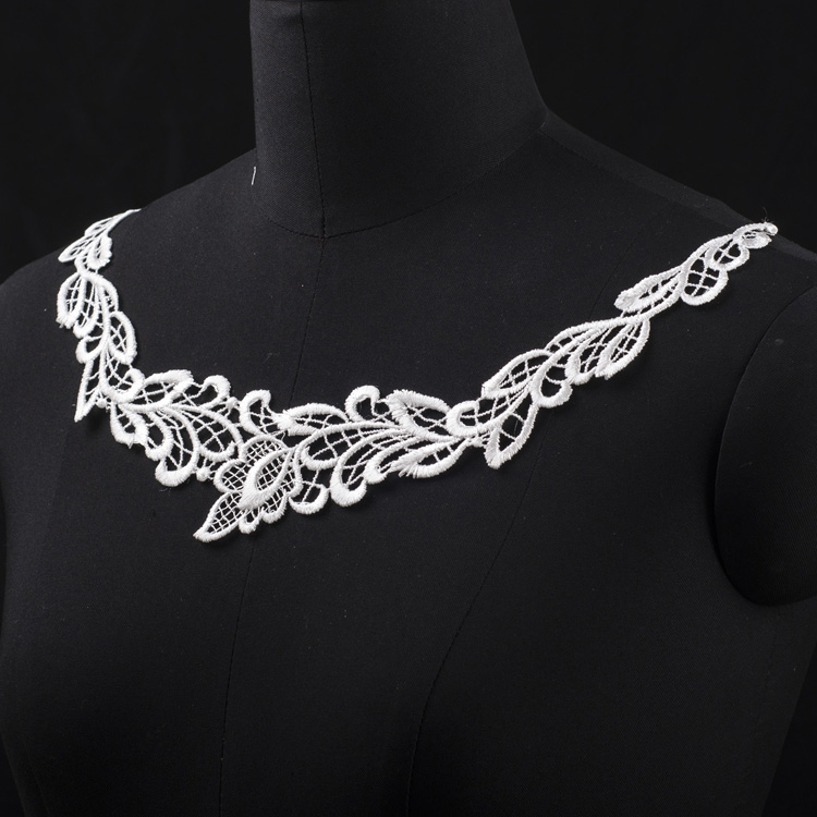 High quality white guipure chemical detach lace collar for women