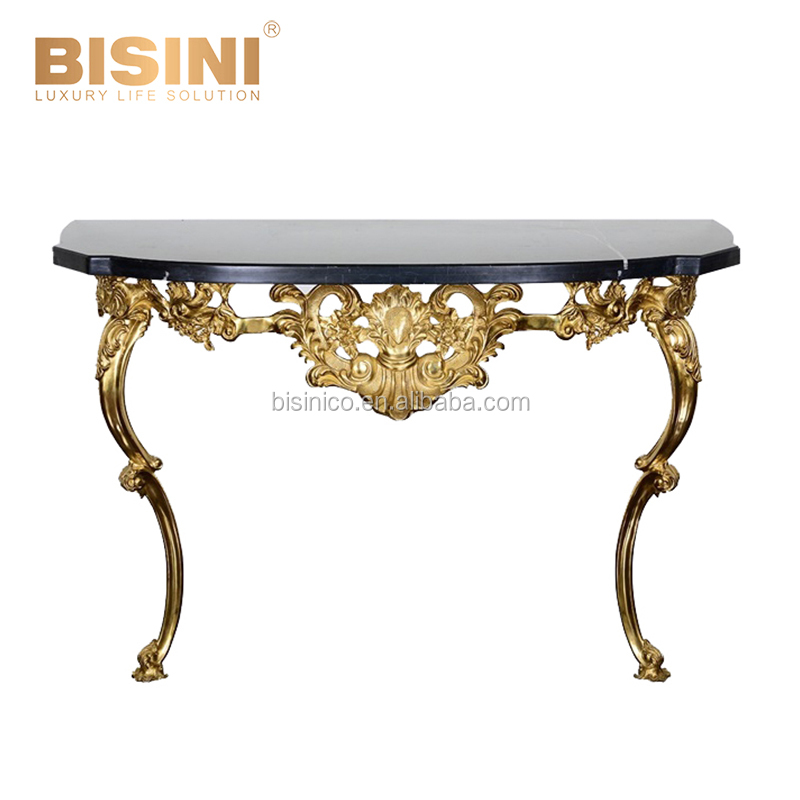 24k Gold Plated Copper Console Table