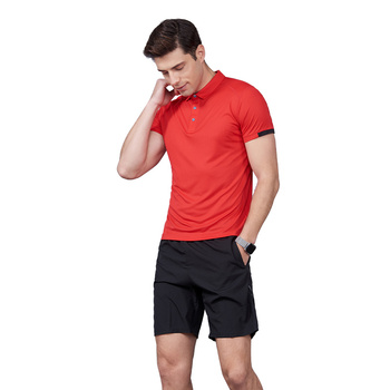 Causal short sleave red color slim custom t shirt