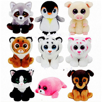 2018 Hot New Ty Beanie Boos Unicorn Big Eyes 15cm Plush Toy Doll Kawaii TY Stuffed Animals For Babies's Christmas Gifts Toy
