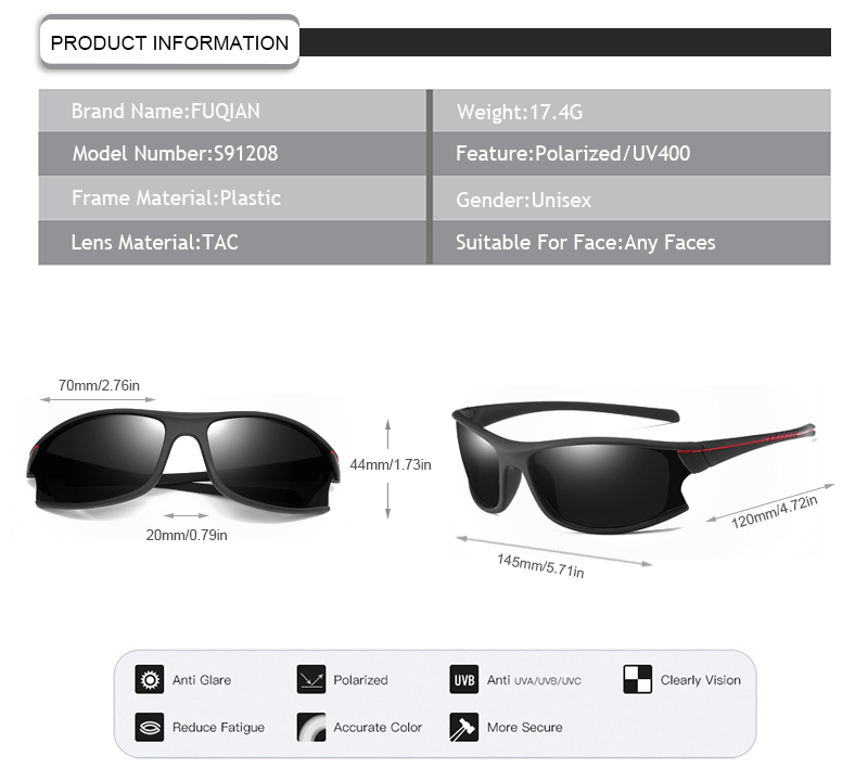 New cycling running eyeglasses polarized men women sports sunglasses
