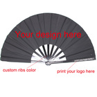 Hand Fan Fan Hand Fan Promotional Bamboo Fabric Hand Fan Printed As Gift