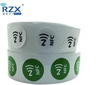 Free Samples 13.56mhz Passive Rfid NTAG 213 / NTAG 215 NFC Label Sticker with Url Encoding