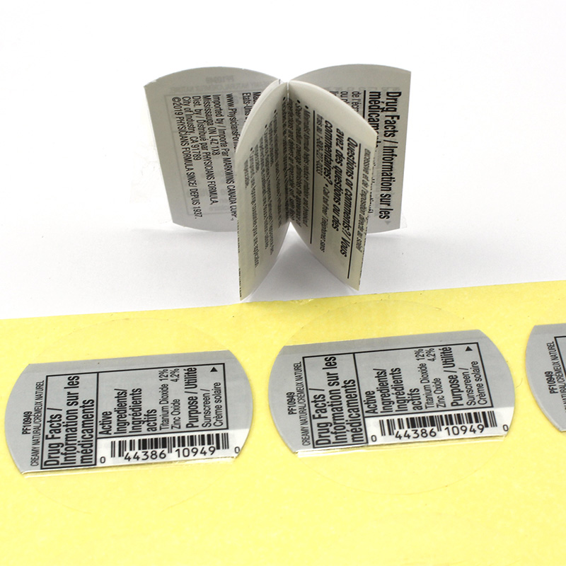 Custom Double Sides Printed Peel Off Multi Layer Paper Folded Booklet Labels for Product Specification