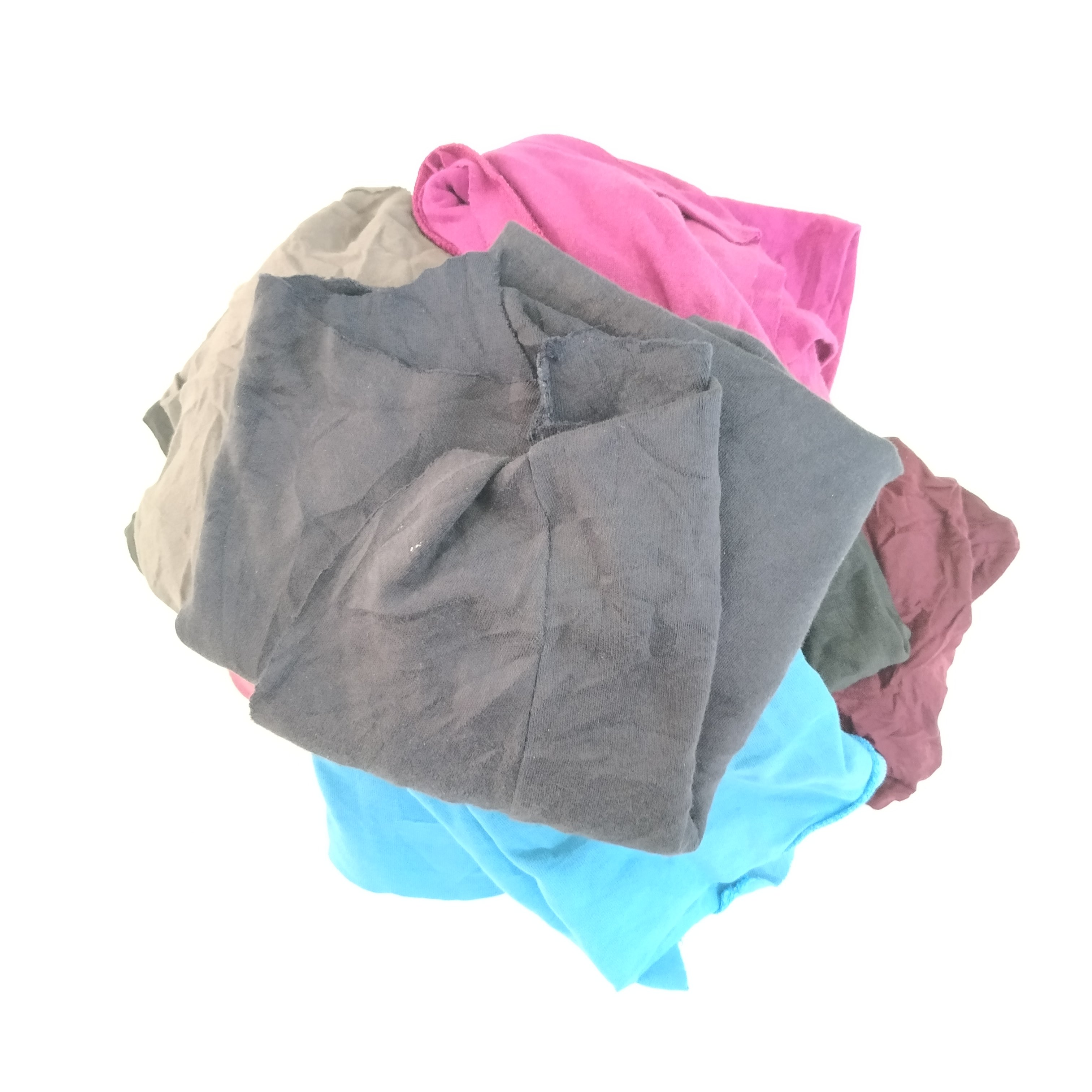 Assorted color terry clothing american used wiping rags