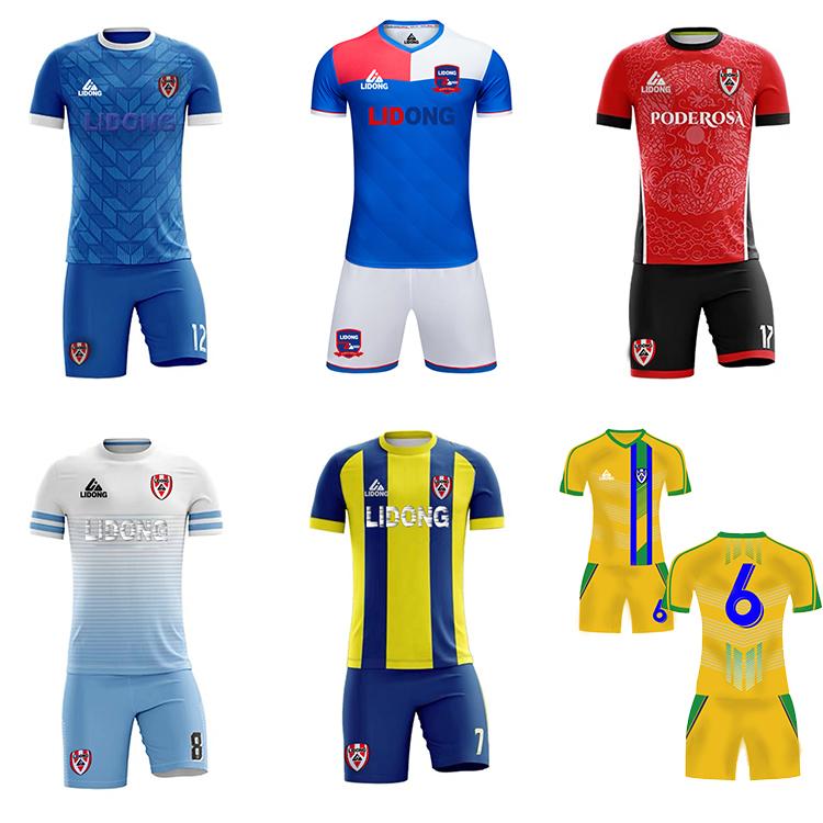 ขายร้อน Breathable ฟุตบอลชุดฟุตบอลชุดที่กำหนดเองฟุตบอลฟุตบอลปรับแต่งชื่อจำนวนทีมโลโก้