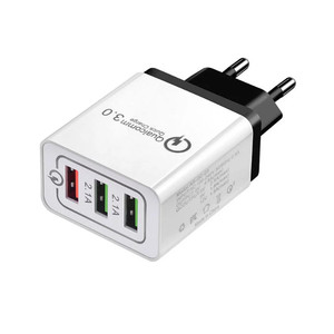 Factory price QC 3.0 quick charger 3 ports usb travel charger CE FCC ROHS certified usb wall charger