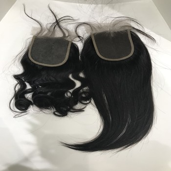Top closure virgin Mink brazilian human hair bundle with lace closure,7x7 brazilian full front lace hair closure piece