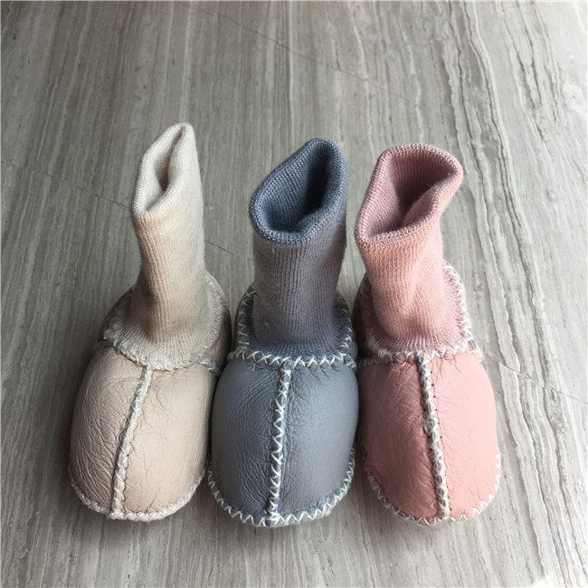 Winter baby shoes boots infants warm fur wool girls baby booties