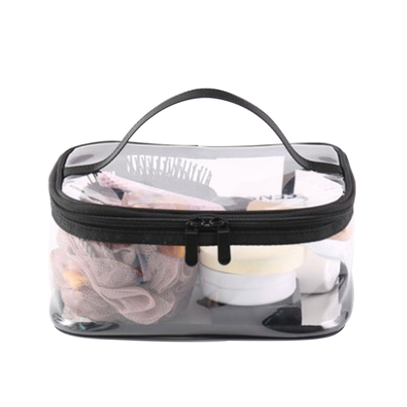 4 Pack Waterproof Travel Toiletry Storage Pouch Transparent PVC <strong>Cosmetic</strong> Carry Clear Makeup Bag