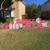 Custom Printed Corrugated Plastic Lawn Decoration Alphabet Letters Holiday Yard Signs On Coroplast
