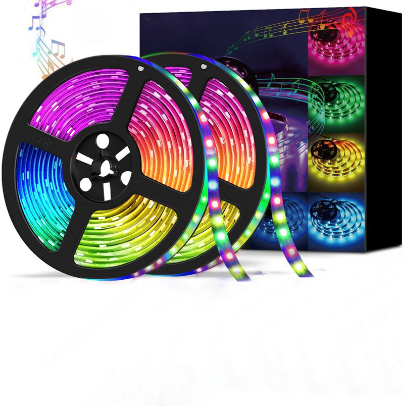 RGB flexible tape LED ribbon LED light strip home kitchen Christmas party light with infrared remote control