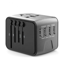 Heißer-verkauf Amazon Universal Travel Adapter 4 Usb Uns Uk aus Europa <span class=keywords><strong>Stecker</strong></span> Alle In One Handy Ladegerät