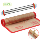 Hot New Hot Rolling Pin Perfect 2 Pack Silicone Baking Mat