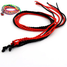 Мужской и Женский Классический плетеный браслет, 19 ''21'' 50 см, цветной плетеный браслет с черной и красной нитью, подарочные украшения(Китай)