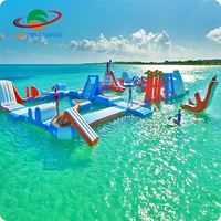 Inflatable water equipment floating waterpark aqua floating water park for adult games