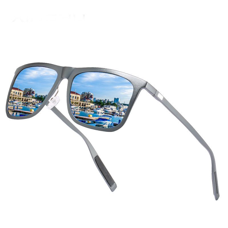 Ultralight Aluminum Magnesium Polarized Sunglasses Wholesale Custom Logo Fashion Italia Design Women Men Square Sun Glasses