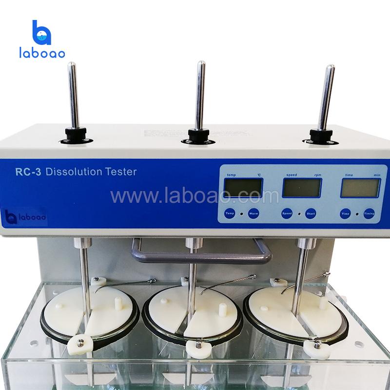 Dissolution tester three cups three bar manual flip