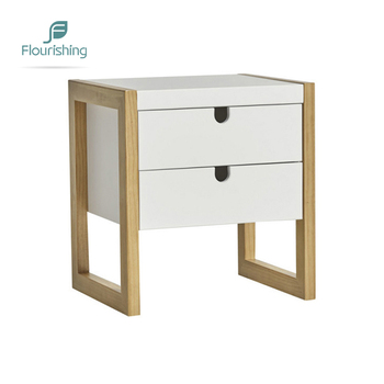 Flourishing High Quality Modern Elegant Design Bedroom Furniture White Small 2 Drawer Bedside Nightstand Table