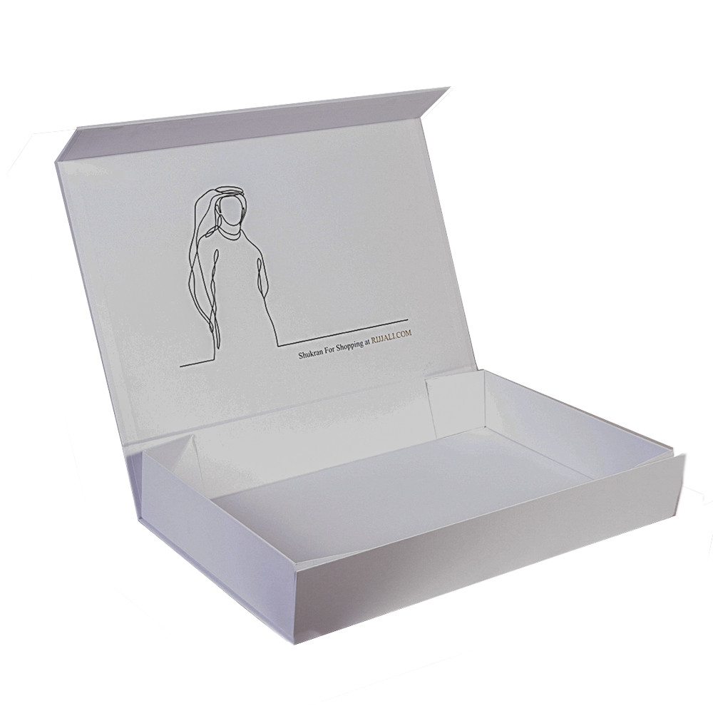 Silver Stamping Luxury Gift Box Packaging Paper Cosmetic Box